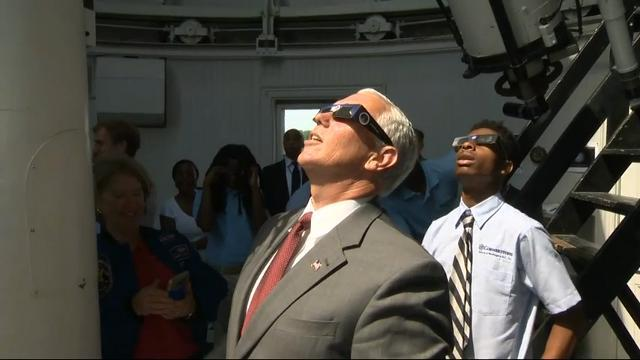 Pence to students: 'Be inspired' by solar eclipse