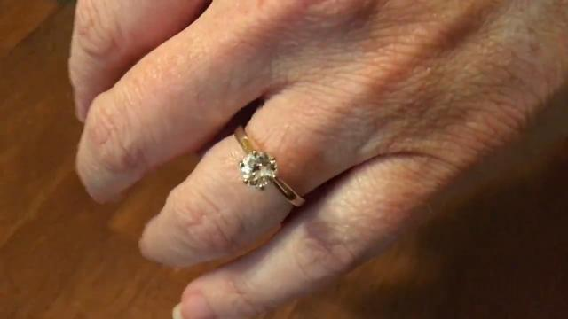 9 years later husband finds lost engagement ring in a strange place