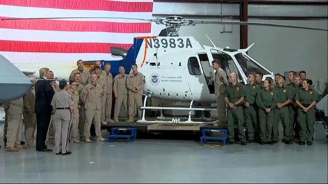 Raw: Trump visits border patrol in Arizona