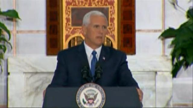 Pence assures U.S. action on Venezuela