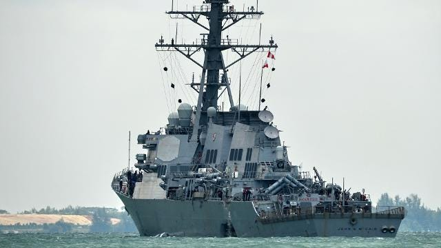 The Navy hits dangerous shoals