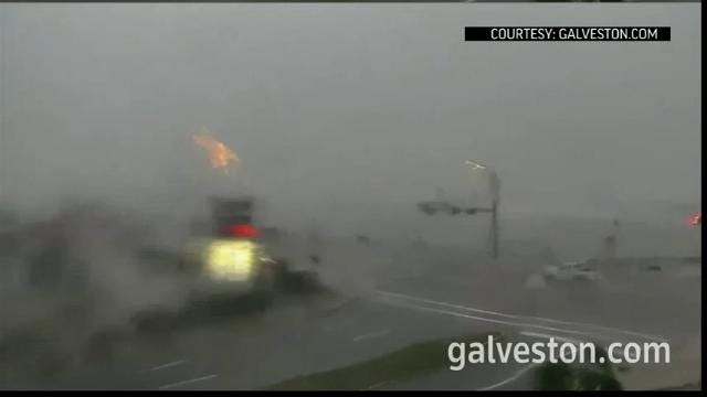 Galveston Reels from Hurricane Harvey