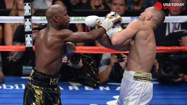 A look at the best photos from the mega-fight between Conor McGregor and Floyd Mayweather, won by Mayweather via 10th round TKO.