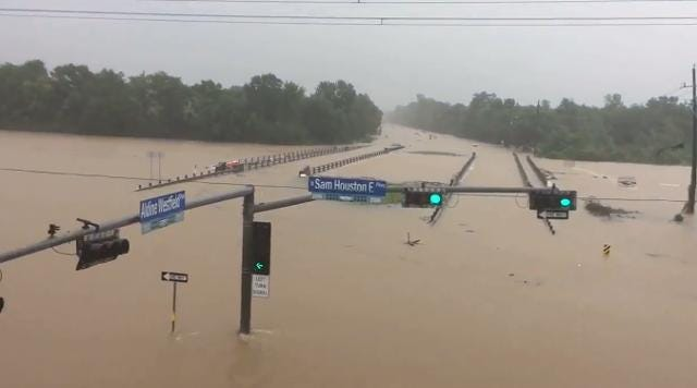 Harvey turns Houston streets into rivers