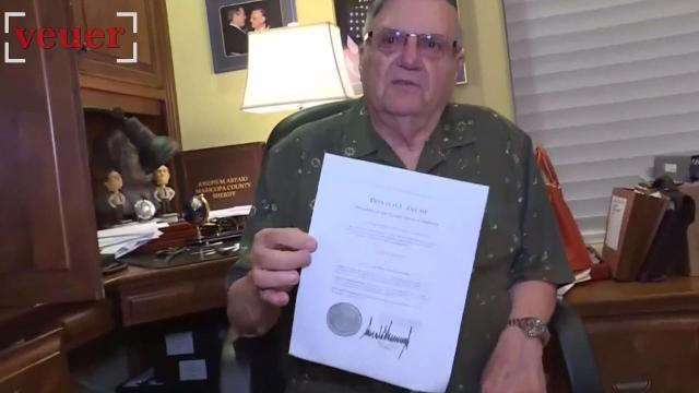 Fake news? Sheriff Arpaio first thought Trump's pardon was 'fake'
