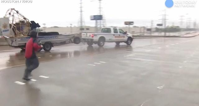 Houston reporter rescues trapped man on live TV
