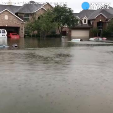 Family stranded in flooded home rescued