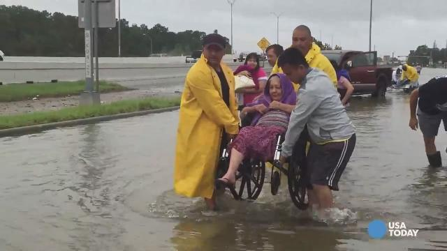 Disabled woman rescued from Harvey flooding