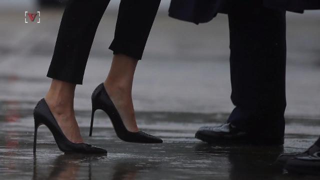 80266305c367 Melania Trump swaps stilettos for sneakers and a FLOTUS cap in ...