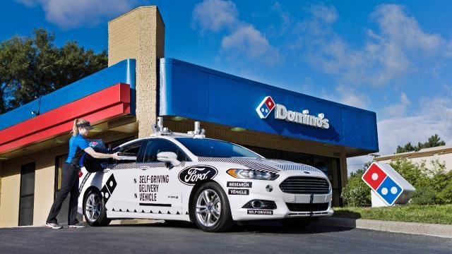 Domino's will deliver pizza with self-driving cars