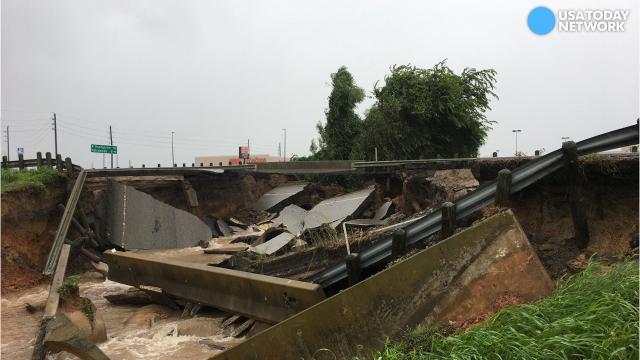 Harvey undermines bridges and roads
