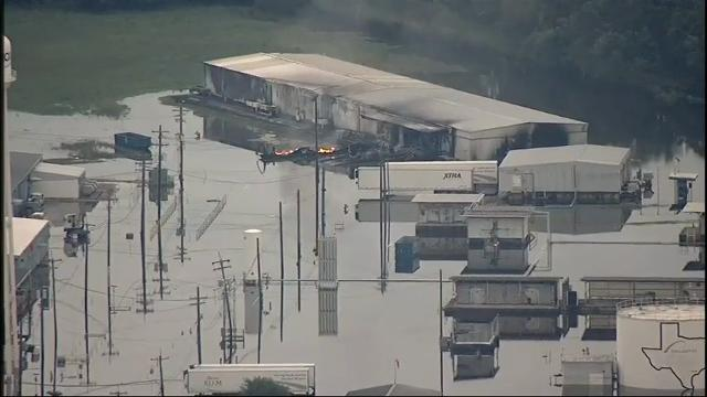 Fire burns at Houston chemical plant
