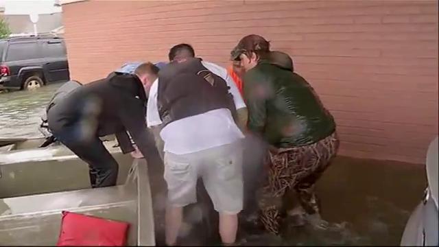 Harvey floods inundate Port Arthur nursing home - Clip