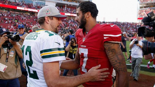 Why Aaron Rodgers' quote won't impact Colin Kapenerick's job status