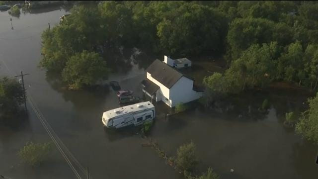 Houston widely flooded a week after Harvey