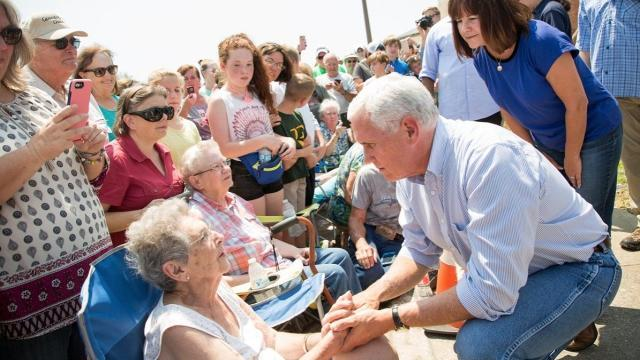 Pence's trip to Texas after Harvey differed from Trump's