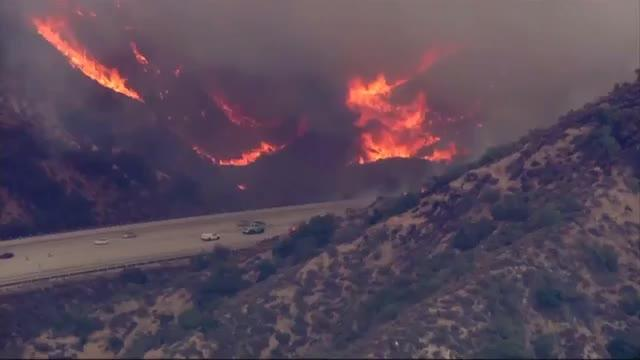 Evacuations ordered in 'largest ever' Los Angeles wildfire