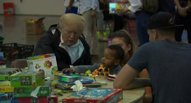 Amid criticism, President gets close with storm victims