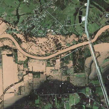 Satellite photos show catastrophic flooding in Texas