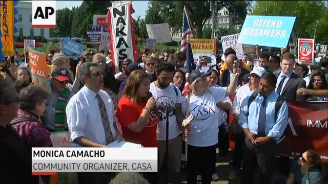Protests outside White House after DACA edict