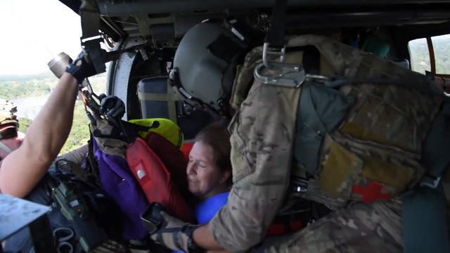 Watch the 920th rescue wing save stranded flood victims