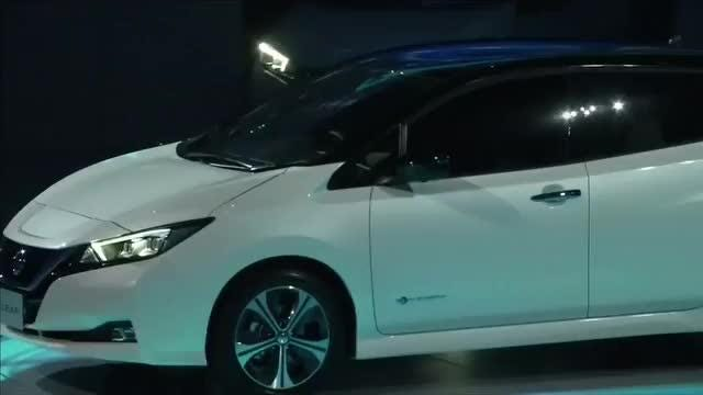 2018 nissan electric car. brilliant nissan 2018 nissan leaf redesigned electric car gets 150mi range  semiselfdriving tech and nissan