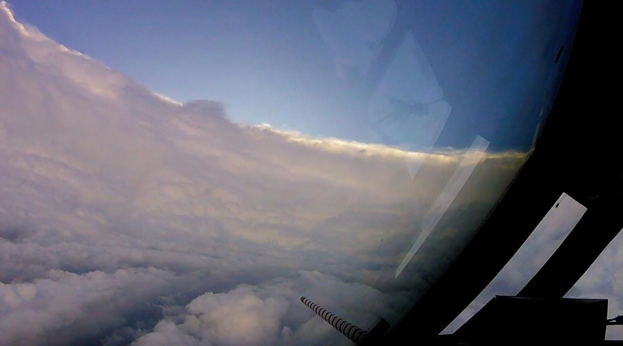 A rough ride for the Hurricane Hunters