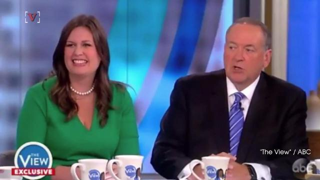 Mike Huckabee and Daughter Sarah Sanders defend Trump on 'The View'