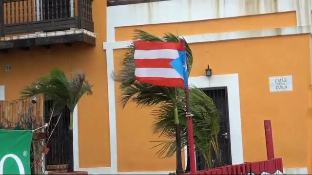 Raw: Winds from Hurricane Irma lash Puerto Rico