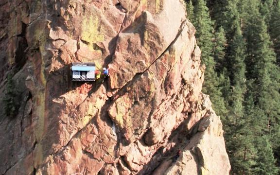 This remote pop-up shop in Colorado is on the side of a cliff