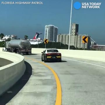 Florida Highway Patrol escorts fuel trucks across state