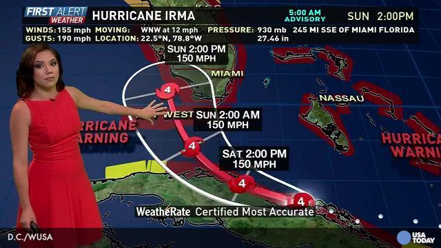Hurricane Irma forecast: Saturday AM