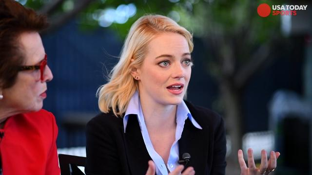 Emma Stone and Billie Jean King talk about the upcoming film 'Battle of the Sexes,' where Stone plays the role of King in her historic win over Bobby Riggs.