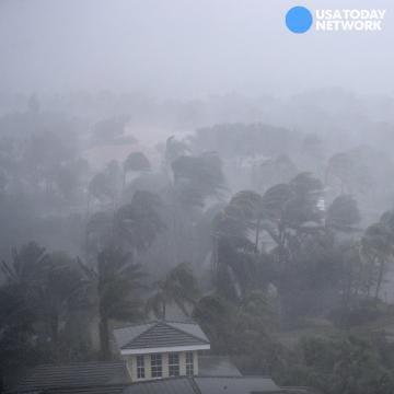 Transformer sparks fly amid Hurricane Irma landfall