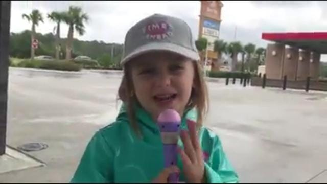 Little girls with big dreams 'report' on Hurricane Irma