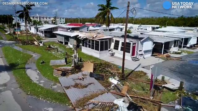 Before and after aerials of Irma's dramatic impact