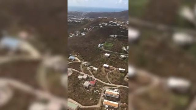 Raw: aerials of Irma damage on US Virgin Islands