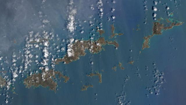 Satellite images show hurricane Irma's Caribbean destruction