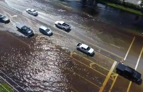 Drone footage of Bonita Springs, Fla. days after Hurricane Irma hit