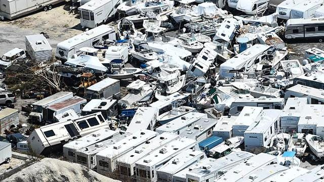'Still standing': Florida Keys flyover shows major damage from Irma