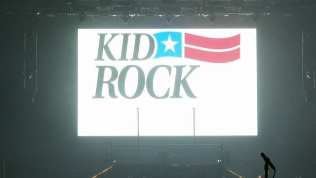 Kid Rock opens Detroit arena amid protest, teases move into politics