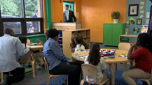 First lady visits students at Maryland youth center