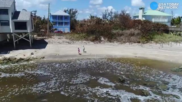 Drone footage reveals beach erosion in Stuart, Florida