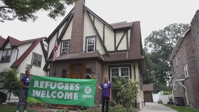 Refugees stay in President Trump's boyhood home