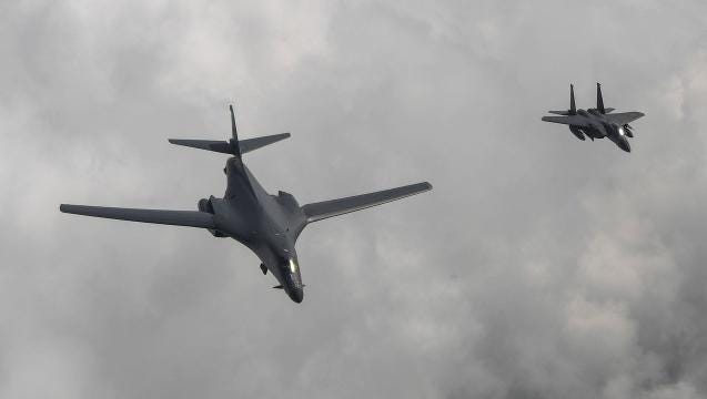 U.S., South Korea fly bombers in show of force