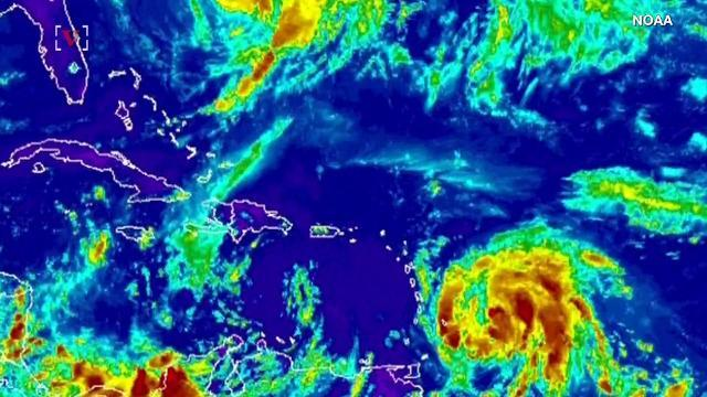 Hurricane Maria gaining strength, threatening the Caribbean