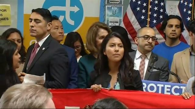 Young immigrants shout down Pelosi