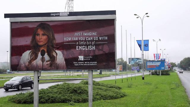 065174780bff Melania Trump  Billboard taken down after legal action threatned
