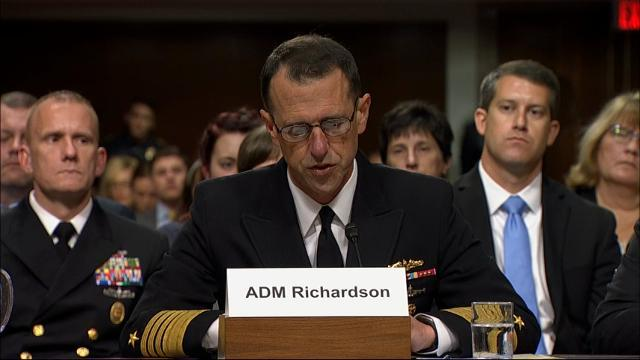 Navy chief: Cuts strain force amid ship crashes
