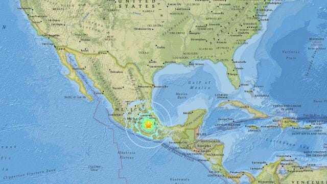 Another massive earthquake hits Mexico